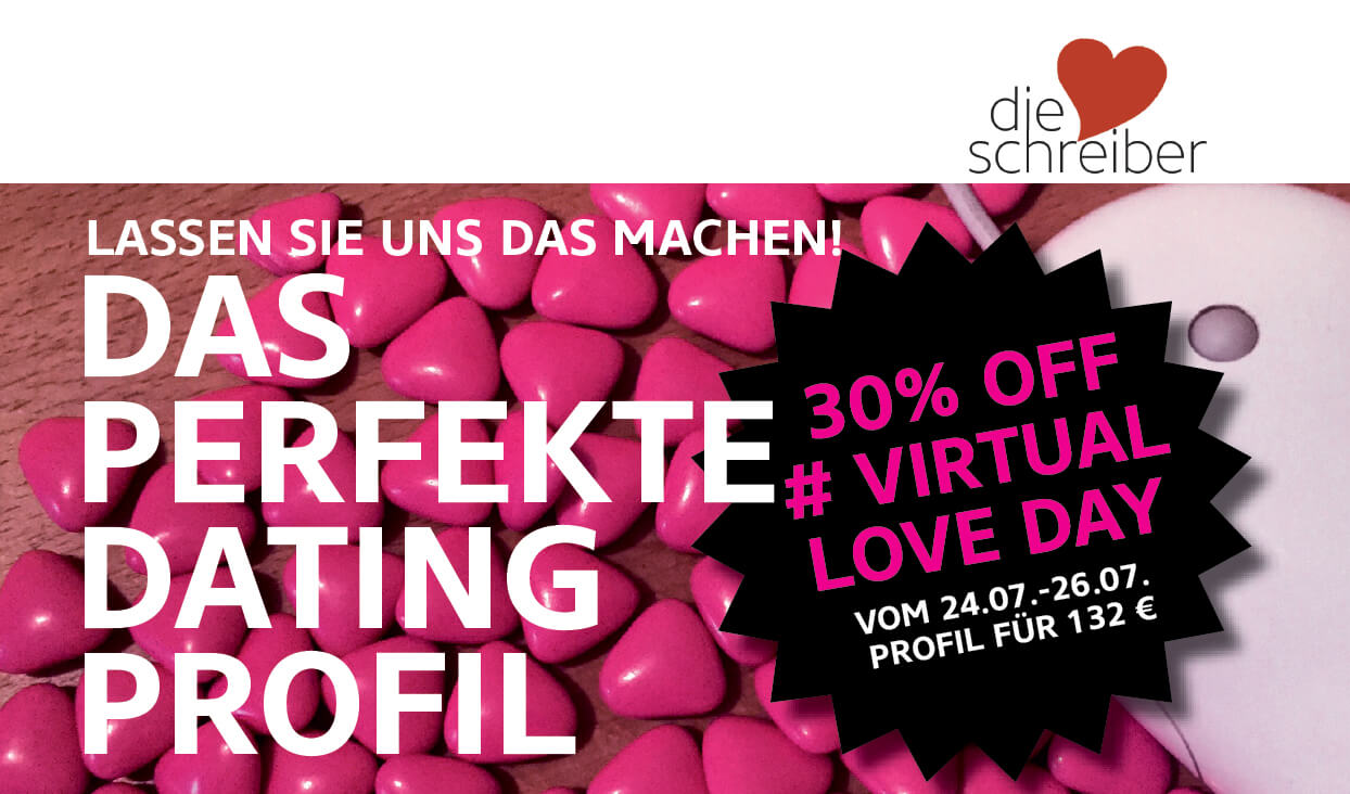 Virtual Love Day 30% auf das perfekte Dating-Profil