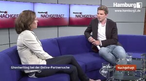 Die beste Singlebörse: Ghostwriterin im Interview bei Hamburg1